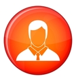 Manager icon flat style vector image vector image