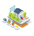 mobile banking isometric vector image