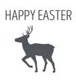 Monochrome emblem or deer poster by Easter vector image vector image