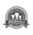oktoberfest celebration beer festival retro style vector image vector image