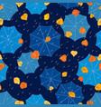 pattern of autumn rain falling on the umbrellas vector image