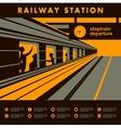 platform railway station vector image