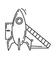playground kids rocketplayingchildrenkindergarten vector image vector image