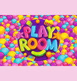 playroom cartoon kids vector image