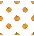 pumpkin hand drawn on white background hand drawn vector image vector image