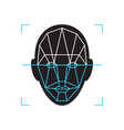 recognition icon face id identity biometric vector image vector image