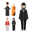 religion people characters group of vector image vector image