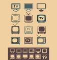 retro tv receiver vector image vector image