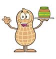 Royalty Free RF Clipart Peanut Cartoon Character vector image vector image