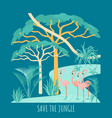 save rainforest vector image