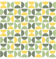 seamless pattern with semicircles mid century vector image vector image