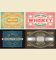 set of 4 old labels vector image vector image