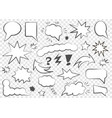 set of speech bubbles set of blank template i vector image vector image