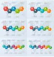 set of timeline chart infographic templates vector image