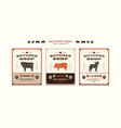 set templates label for butcher shop vector image vector image