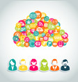Social media cloud computing concept vector image vector image
