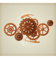 Steampunk background vector image vector image