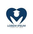 student logo design education logo vector image vector image