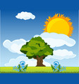 the year landscape daytime vector image vector image