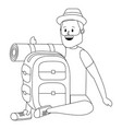 tourist man cartoon vector image vector image