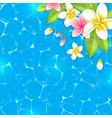 Tropical flowers on a blue background vector image vector image
