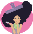Unmanageable frizzy hair vector image