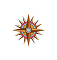 Vintage Compass Star Isolated Retro vector image