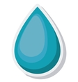 water drop ecology isolated icon vector image vector image