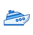 watercraft line icon vector image