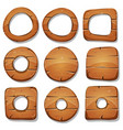 wood rings circles and shapes for ui game vector image vector image