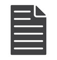 document glyph icon web and mobile file sign vector image