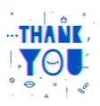 Thank you text with elements of psychedelic vector image