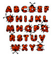 ladybug zoo alphabet english abc animals vector image