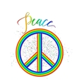 rainbow peace logo with vector image