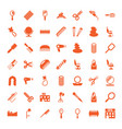 49 salon icons vector image vector image