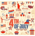 4th of July design element vector image vector image