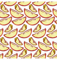apple slices seamless pattern background vector image