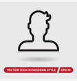avatar icon in modern style for web site and vector image