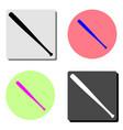 baseball bat flat icon vector image