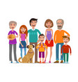 big happy family group of people parents and vector image vector image