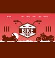 bike fest website design vector image vector image