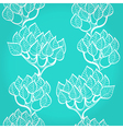 Blue background with trees vector image