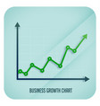 business growth arrow chart showing upward trend vector image vector image