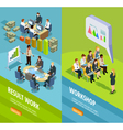 Business Learning Isometric Vertical Banners vector image vector image