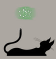 cat looks up at the stars vector image vector image
