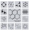 Collection Molecules vector image vector image