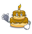 doctor birthday cake character cartoon vector image vector image
