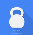 Flat Style Kettlebell Icon with Long Shadow vector image