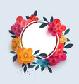 flower composition with text in a circle vector image