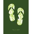green and golden garden silhouettes flip vector image vector image
